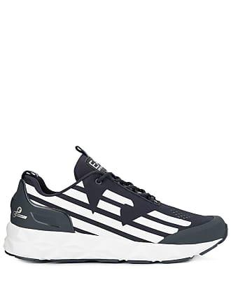 Emporio Armani lo-top running sneakers - Blue