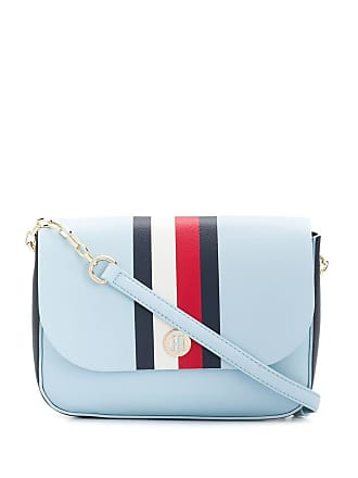 208414d80 Tommy Hilfiger stripe detail flap crossbody bag - Blue