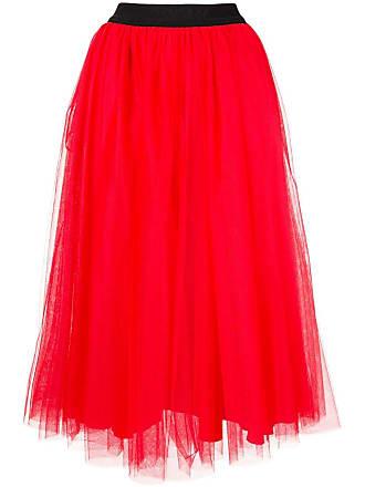 Msgm tulle midi skirt - Red