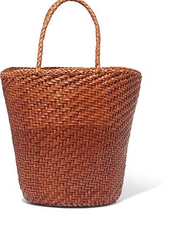 Dragon Diffusion Myra Small Woven Leather Tote - Tan