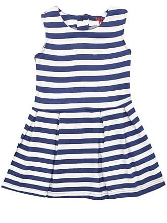 Tip Top Vestido Tip Top Listrado Azul/Branco