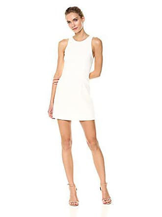 7f6706d34d40 French Connection Womens Whisper Light Sleeveless Strappy Stretch Mini Dress,  White Cross Back, 4