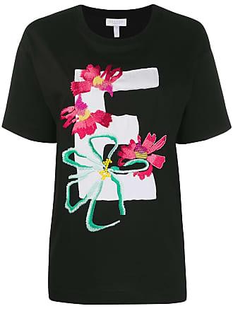 Escada Sport embroidered flowers T-shirt - Preto