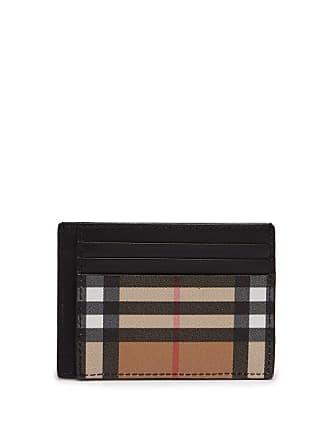 67cf2bf4e2fa Burberry Porte-cartes en cuir à motif Vintage check