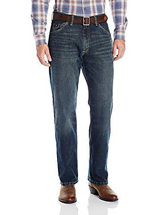 Wrangler Mens 01 Competition Relaxed Fit Jean, Root Beer, 30x36