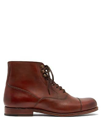 Grenson Leander Leather Boots - Mens - Brown