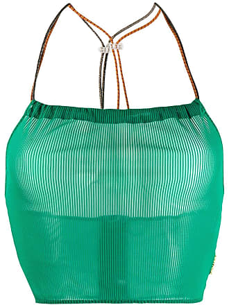 Youser Blusa cropped frente única - Verde