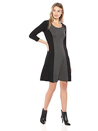 Karen Kane Womens Colorblock Dress, Gray/Black, Medium
