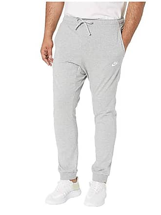 7a81741c7 Nike Big Tall NSW Club Jersey Jogger (Dark Grey Heather/White) Mens Casual