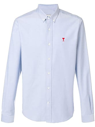 Ami Camisa com logo bordado - Azul