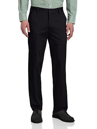 Dockers Mens Signature Performance Work Khaki D2 Straight Fit Flat Front Pant, Navy - discontinued, 34W x 30L