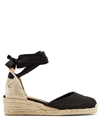 1045c97cc2798 Castaner Carina 30 Canvas   Jute Espadrille Wedges - Womens - Black