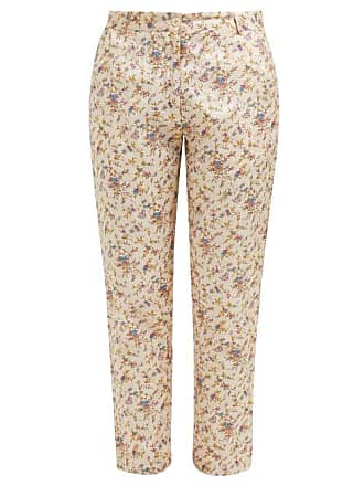 e0f1b98158e296 Mes Demoiselles... Gaius Floral Print Silk Trousers - Womens - Beige Multi