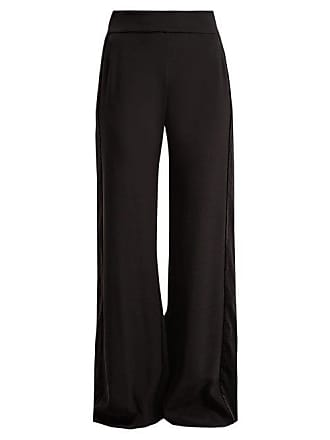 Zeus + Dione Alcyone Side Striped Crepe Trousers - Womens - Black