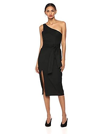 ce07a8f9754a Finders Keepers Womens Francis ONE Shoulder MIDI Sheath Dress with Slit,  Black M