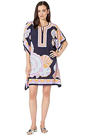 f3155005449a3 Trina Turk Womens Theodora Short Sleeve Caftan Style Dress, Biscayne  Bouquet, Medium/Large