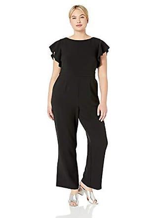 66813c59d12 Vince Camuto Womens Plus Size Crepe Flutter Sleeve Jumpsuit