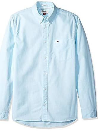 c77d85814 Tommy Hilfiger Tommy Jeans Mens Button Down Shirt, Oxford Green n, Small