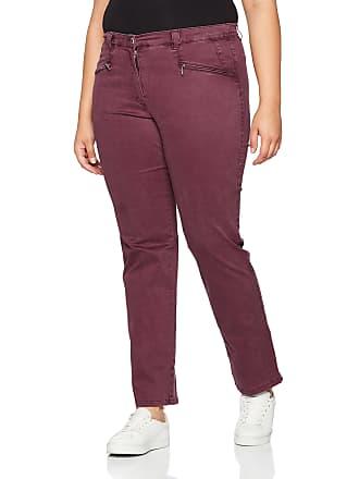 3c3858e0655 Ulla Popken Womens Plus Size Mony Super Soft Stretch Pants Wine Red 20  712361 50-