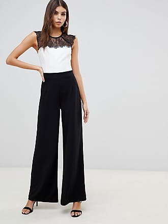 3c801d3385 Lipsy 2 in 1 lace jumpsuit in monochrome - Multi