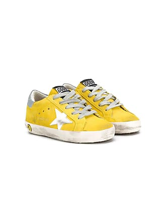 Golden Goose kids Tênis Superstar - Amarelo
