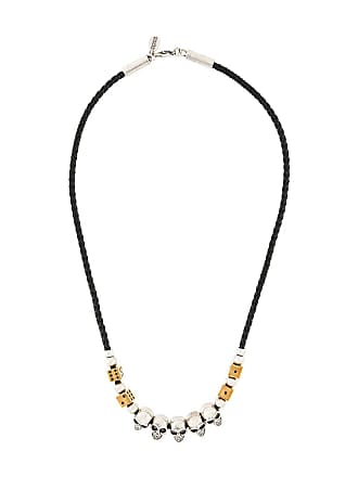 Alexander McQueen skull and dice beaded necklace - Black