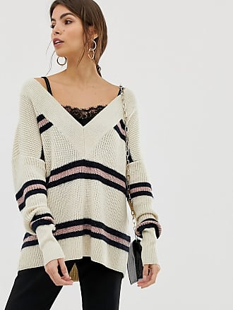 Y.A.S chunky v neck stripe sweater - Multi