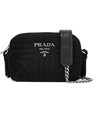 Prada Quilted Suede Camera Bag - Black