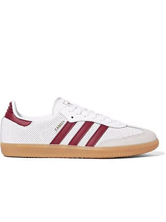 adidas Originals Samba Og Perforated Leather And Suede Sneakers - White