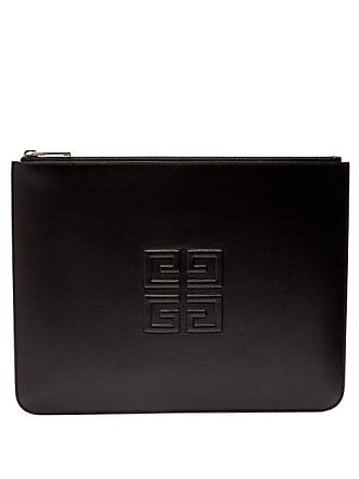 Givenchy Logo Embossed Leather Pouch - Mens - Black Khaki a1cb744cde9ab