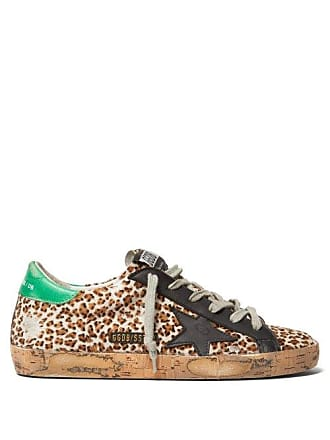 Golden Goose Superstar Leopard Print Low Top Calf Hair Trainers - Womens - Leopard