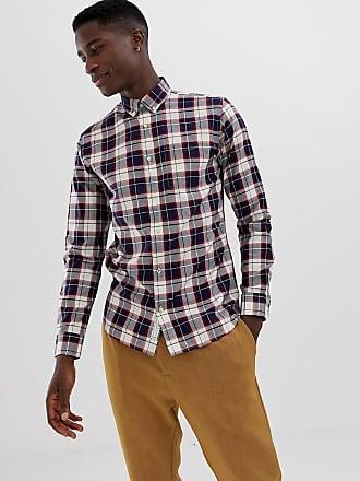 22789030d14f52 Jack   Jones Premium - Kariertes Hemd in enger Passform - Rot