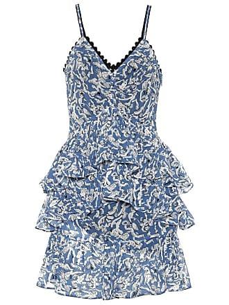 Victoria Beckham Ruffled printed minidress