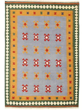 Nain Trading 259x186 Tappeto Orientale Kilim Fars Marrone Scuro/Verde Scuro (Persia/Iran, Lana, Tessuto a mano)