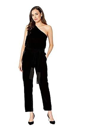 1f55fd1a1e1 Ralph Lauren Velvet One-Shoulder Jumpsuit (Polo Black) Womens Jumpsuit   Rompers  One