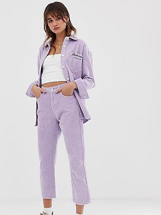Reclaimed Vintage inspired mom jean in cord - Purple