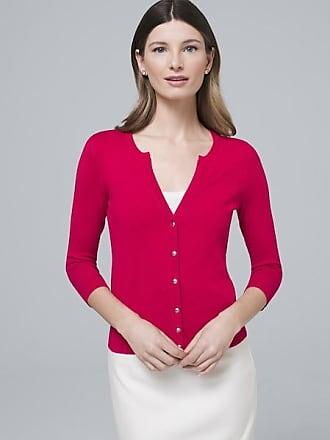 White House Black Market Womens Snap-Front Cardigan by White House Black Market, Pink Thrill, Size XL