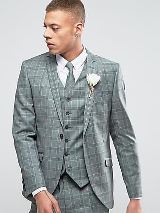 Heart   Dagger Summer Wedding - Giacca da abito slim a quadri - Verde 07eca26fc42