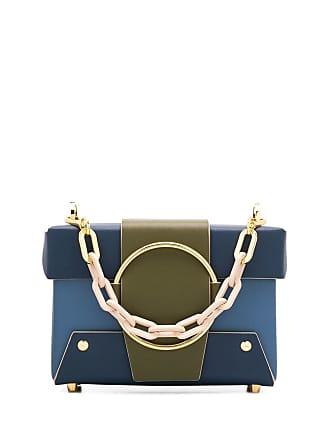 Yuzefi Bolsa tote color block - Azul