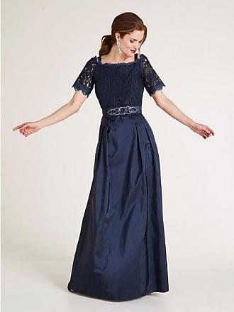 3f589f17438c Heine Damen Abendkleid mit Spitze, blau, Gr. 36, heine TIMELESS, Material