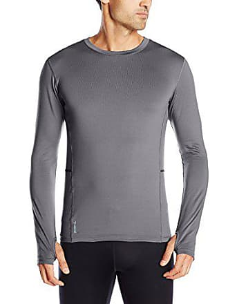 c085459ebcf6 Duofold by Champion Mens Mid Weight Fleece Lined Thermal Shirt, Thundering  Gray, 2X Large