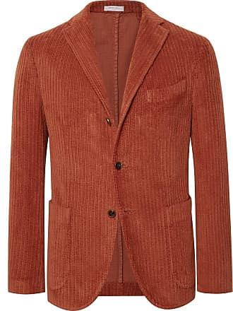 6e49e3caefd479 Boglioli Orange Slim-fit K-jacket Cotton-corduroy Blazer - Orange