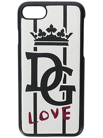 Dolce & Gabbana Capa para iPhone 8 DG Love de couro - Branco