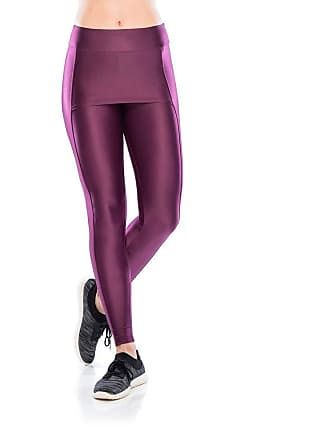 Mulher Elástica Legging Fitness Cover - Roxo Médio Leggings Fitness Cover - Roxo Médio - G