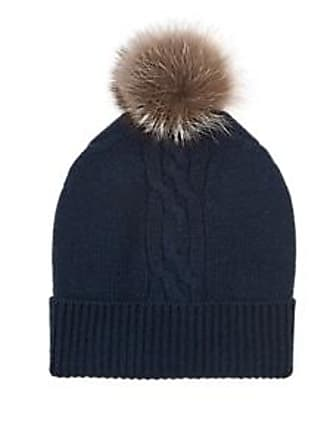 b1e5dac0d3379 Barneys New York Mens Fur-Trimmed Cable-Stitch Cashmere Beanie - Navy