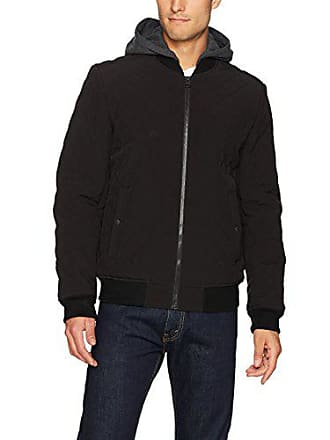 Levi's Mens Quilted Softshell Hooded Bomber Jacket, Black, Small
