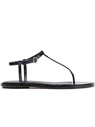 Tibi Tibi Woman Courtney Elaphe Sandals Navy Size 40.5