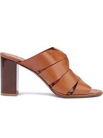 c60f201f56b0 Salvatore Ferragamo Salvatore Ferragamo Woman Evelina Cutout Leather Mules  Beige Size 5.5