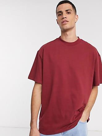 Weekday Great - Dunkelrotes T-Shirt