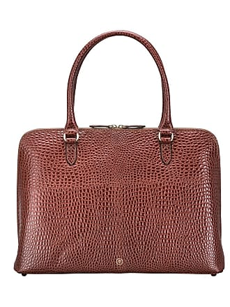 Maxwell Scott Maxwell Scott - Luxury Ladies Mock Croc Leather Laptop Handbag